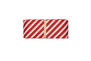 1 1/2 Red and White Stripe Grosgrain Ribbon