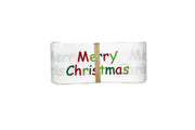 1 1/2 White Christmas Grosgrain Ribbon