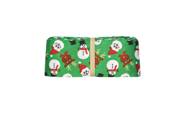 "LaRibbons 7/8""- 1 1/2"" Christmas Themed Grosgrain Ribbon Bundle 5 Yards/Style (35 Yards Total)"