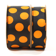 Tod Grosgrain Ribbon Tangerine/Black