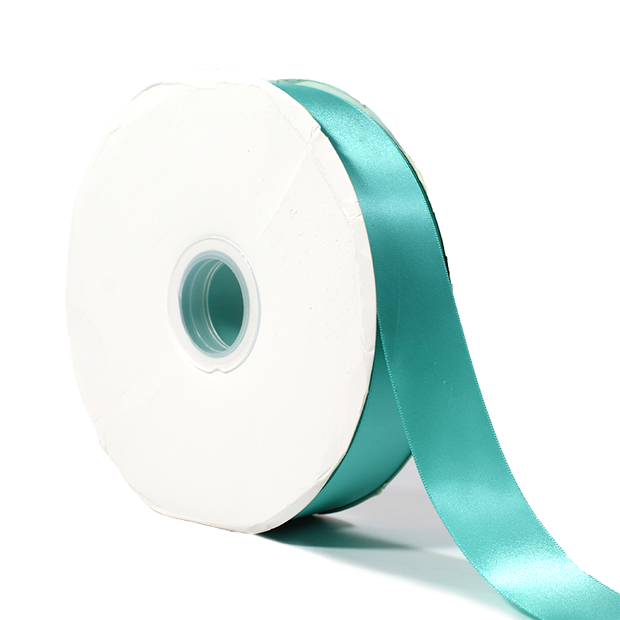 38 millimeter tiffany blue single face satin ribbon