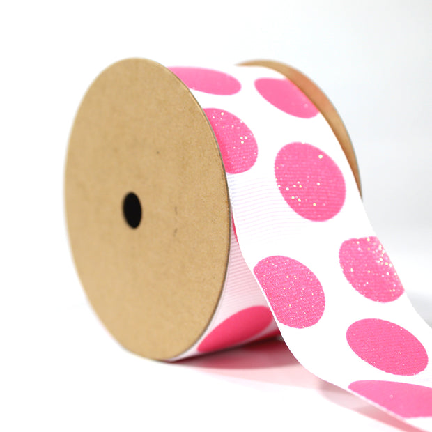 "1 1/2"" Sugar Dot Glitter Grosgrain Ribbon"