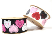 "1 1/2"" Hearts Galore Grosgrain Ribbon"