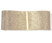 White gold glitter canvas ribbon