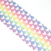 "2 1/2"" Chunky Glitter Canvas Ribbon Rainbow Multi"