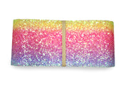 "2 1/2"" inch Rainbow gradient glitter ribbon"