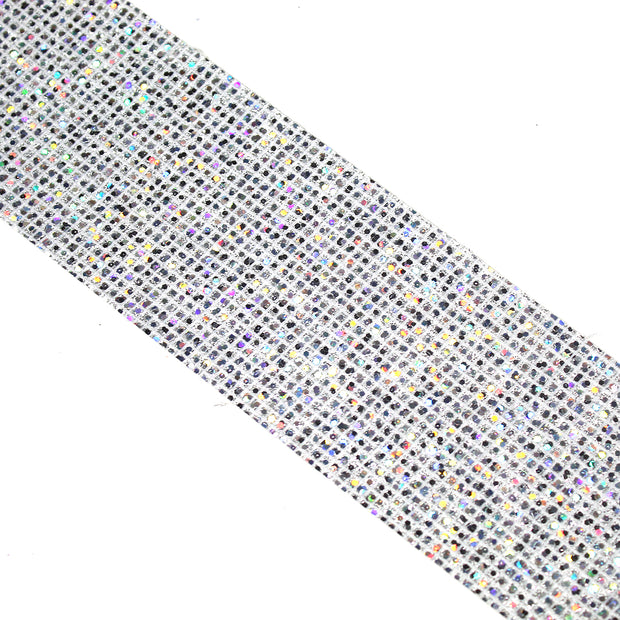 "2"" Holographic Glitter Canvas Ribbon"