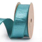 25 millimeter green silk ribbon