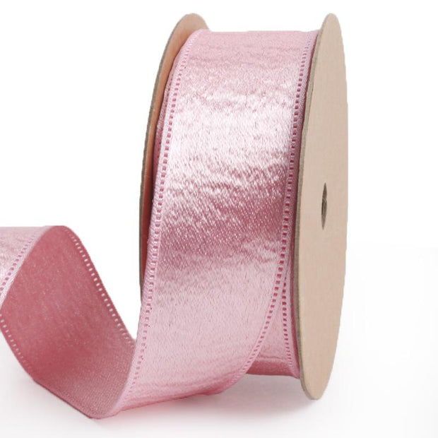 25 millimeter light pink silk ribbon