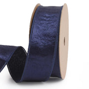 25 millimeter navy blue silk ribbon