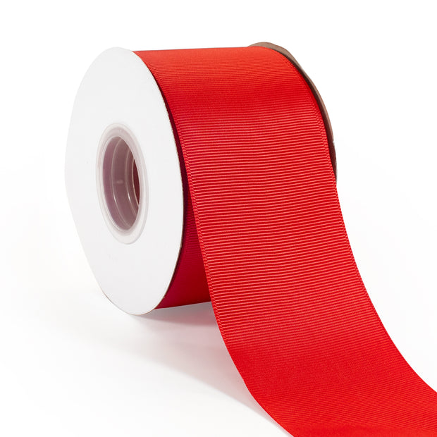 "2 1/4"" Polyester Grosgrain Ribbon Red 25 Yards"