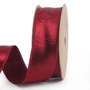 25 millimeter red silk ribbon