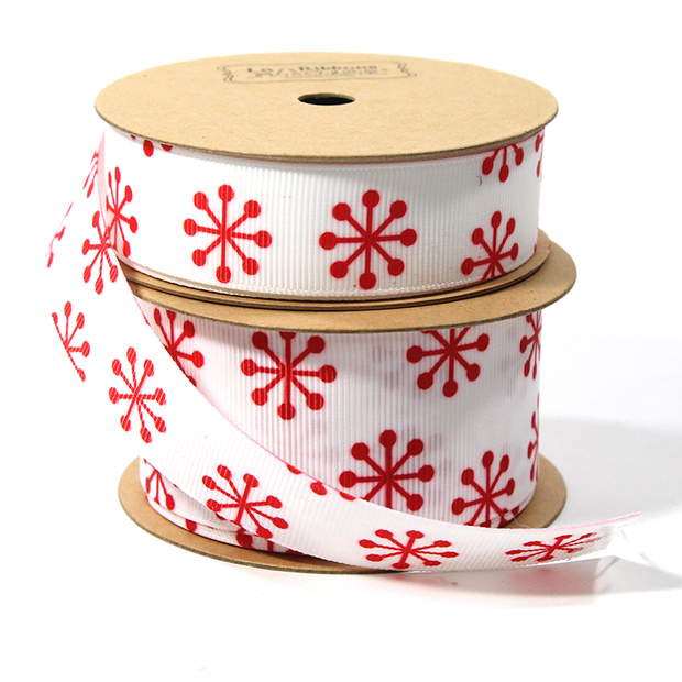 White and red jacks ribbon spools