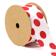 1 1/2 inch red and white polka dot ribbon