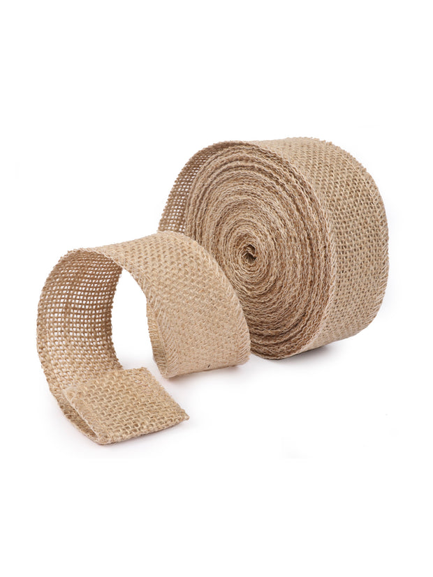 "1.6"" Jute Twine Burlap Fabric DIY Craft Ribbon 10 Yards Spool"