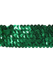 "Copy of 1 7/8"" Stretch Sequin Elastic Trim - Green - 6 Yards"