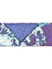 "3"" Reversible Sequin Ribbon Trim - 2 Yards - Princess Iris/Matte Lt Iris"