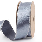 25 millimeter grey silk ribbon