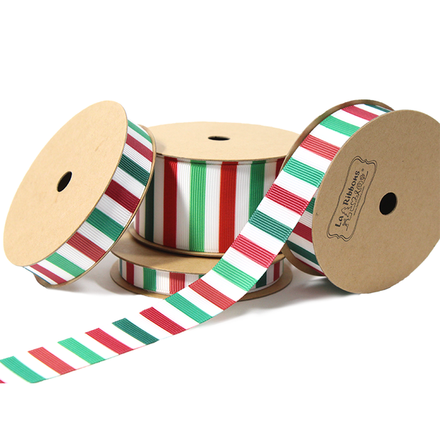 Seas'l Stripe Holiday Grosgrain Ribbon Multi