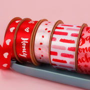 Collection of valentines theme ribbon spools