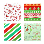 "Red/Green Metallic Foil ""Christmas"" Wrapping Paper - 4 Roll Pack"