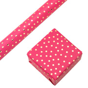 "Confetti Dot Gold Foil/Hot Pink Wrapping Paper Roll - 30"" X 16""/Roll"