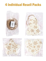 6pcs Christmas Tree Ornaments Gift Tags - Heart Stars