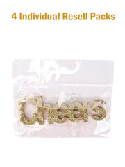 "Wooden ""Cheers"" Sign Door Wall Hanging Christmas Ornament/Gift Tags"