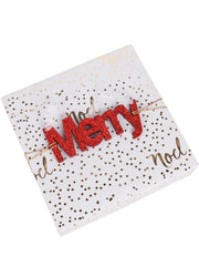 "Wooden ""Merry"" Sign Door Wall Hanging Christmas Ornament/Gift Tags"