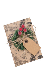 31Pcs/Set Gift Wrapping Collection - Artificial Branch,Red Berry,Gift Tags,Bells
