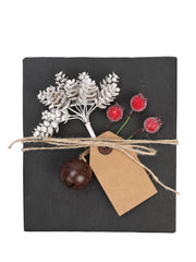 Artificial Leaves Plants, Red Berry, Paper Tags, Bells Accessory Kit