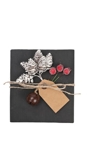 9Pcs/Set Gift Wrapping Collection - Artificial Pine Cone, Red Berry, Gift Tags, Bells