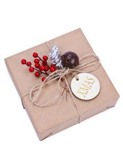 44Pcs/Set Gift Wrapping Collection - Artificial Pine Cone, Red Berry, Gift Tags, Bells