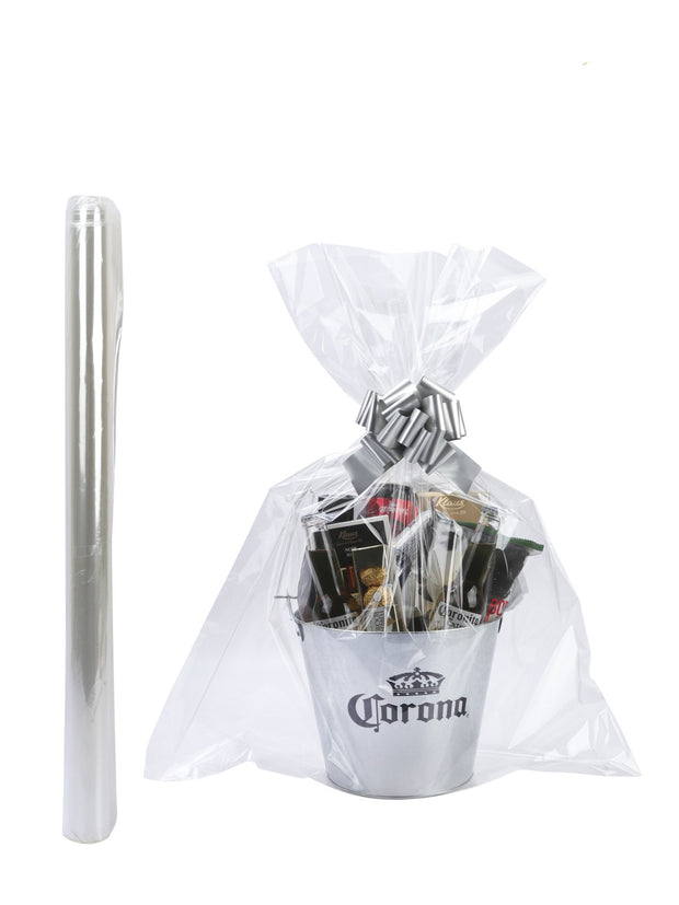"12Pcs Clear Cellophane Bags Gift Basket Packaging Bags Flat - 24"" X 30"""