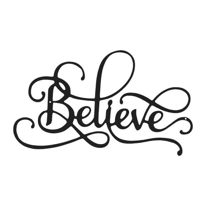 Believe Calligraphy Sign