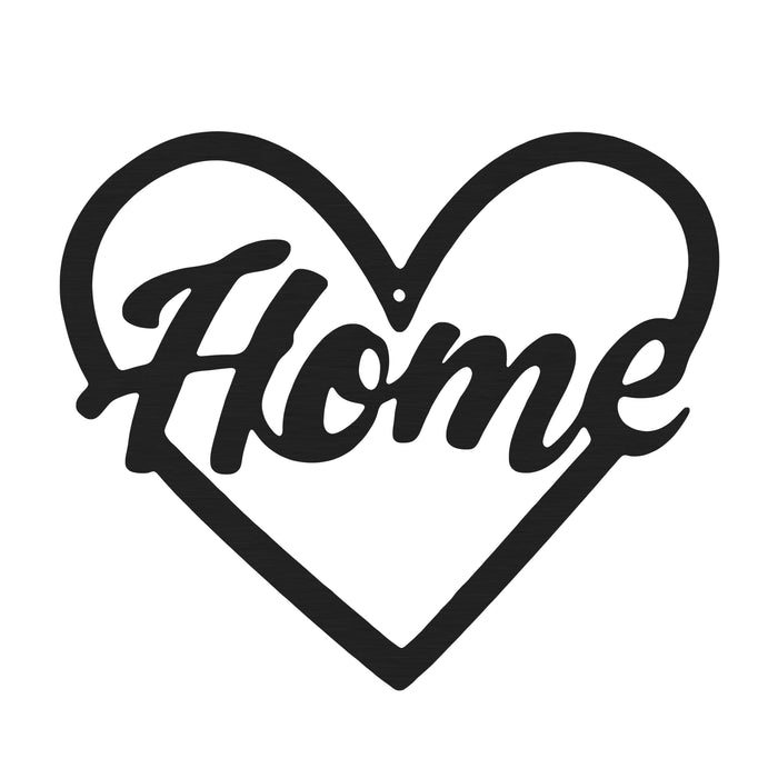 Heart and Home Sign