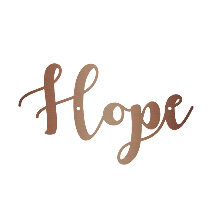 Hope Calligraphy Sign