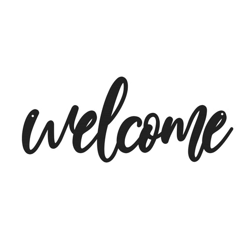 Welcome Calligraphy Sign