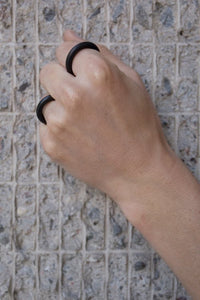 Even black rubber ring