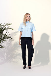 50 % OFF FLAPS SHIRT - BLUE