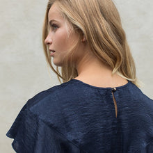 Load image into Gallery viewer, INDIGO PION BLOUSE BY VALERIE