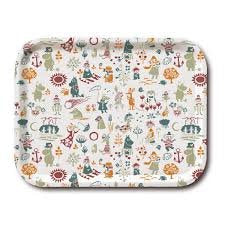 Tray 36×28  Moomin Pattern Orange
