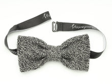Load image into Gallery viewer, White&Black Melange Bow Tie