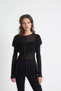 Silene black blouse