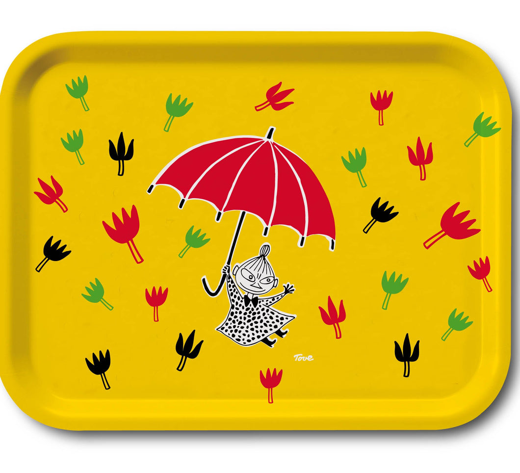 Tray 43×33  Moomin, Little My & Umbrella