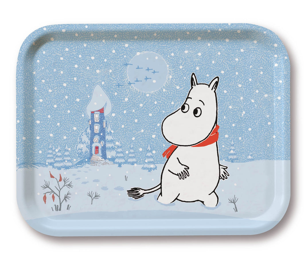 Tray 43×33 Winter Moomin Snow