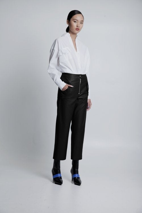 70% OFF Vegan leather pants black
