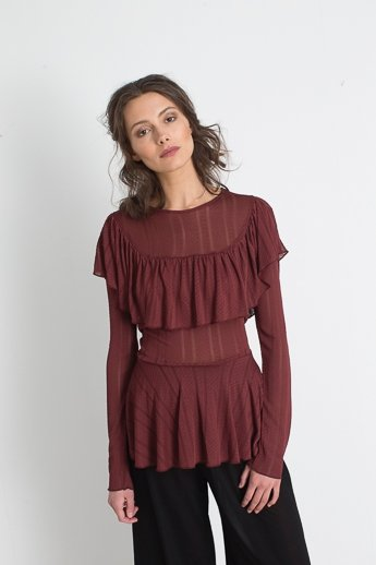 Silene brown blouse
