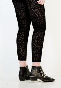 Animal Rights Leggings - Burnt Velour