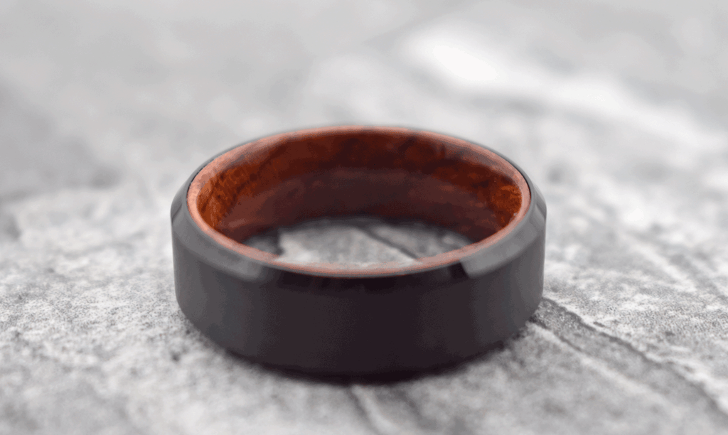 Men's Engagement Ring With Wood Accent